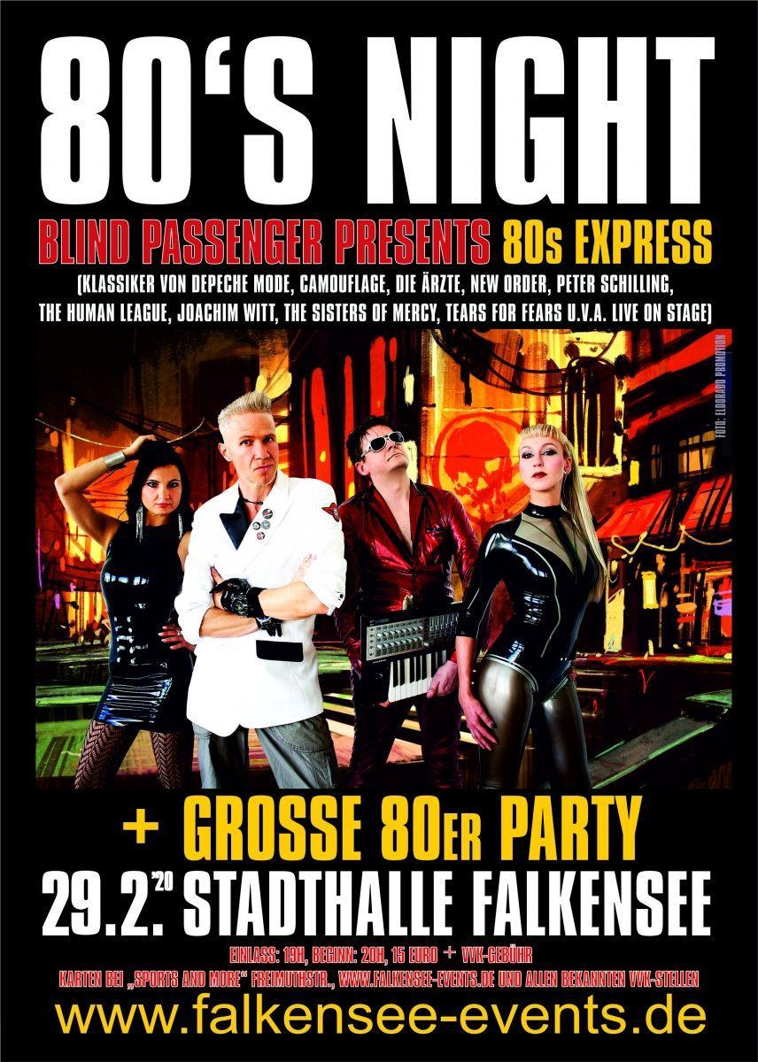 80er-Party mit Blind Passenger und 80s-Express
