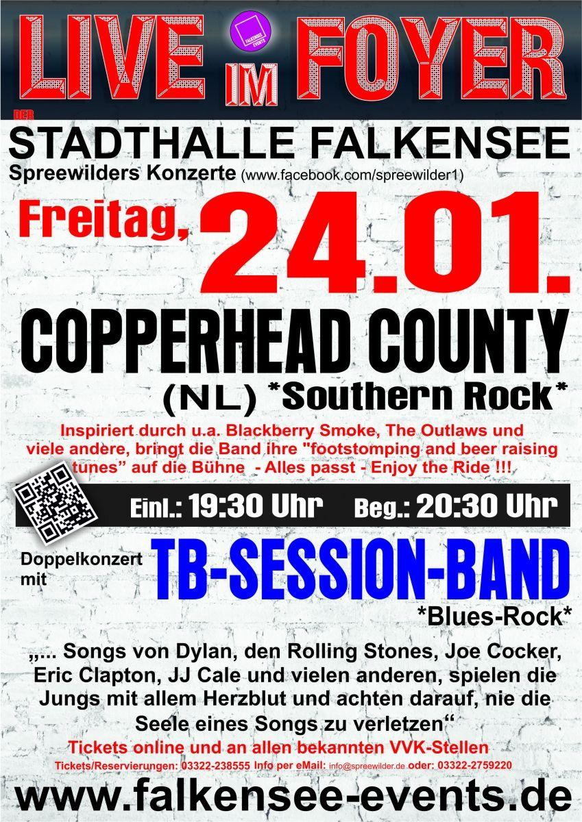 Live im Foyer - Copperhead County (NL)+ TB Session Band